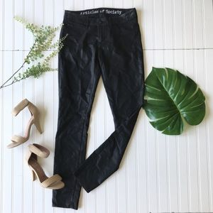 Articles of Society skinny pants black sheen